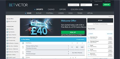Betvictor Top page