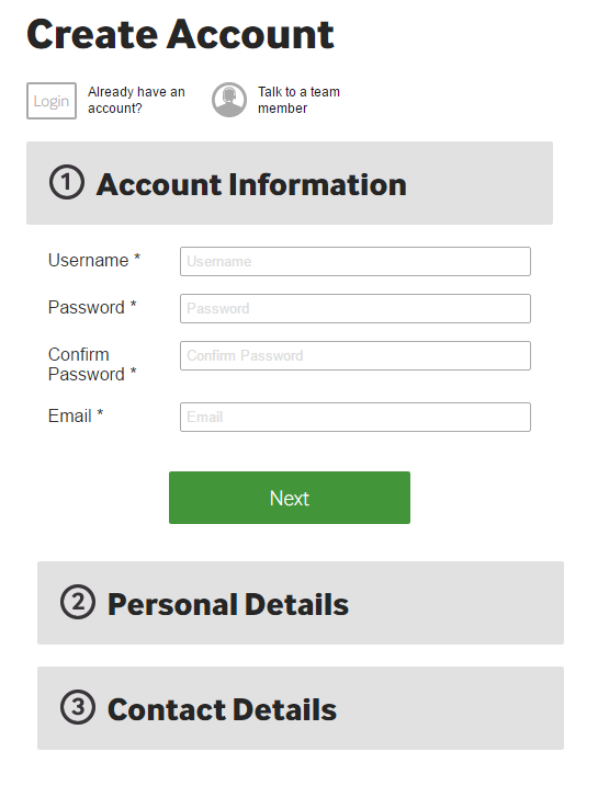 Betway Sign Up Step 2