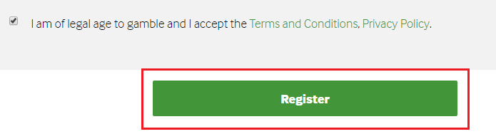 Betway Sign Up Step 3