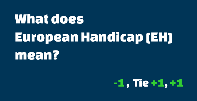 Handicap tie betting explained betting for the tie in jeopardy do the winner
