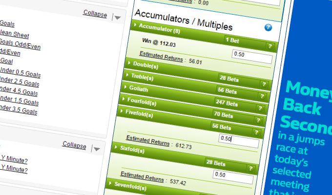 Accumulators and Perms to win cups and leagues - Betting