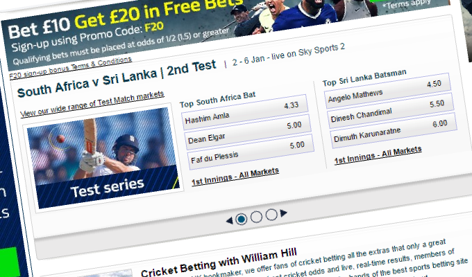 betting odds cricket live